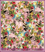 New Bouquet design of printing paper for 2014 curtain