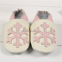 connection spain cartoon custom made latin dance kids dance snow pattern newborn real leather baby shoes for girls