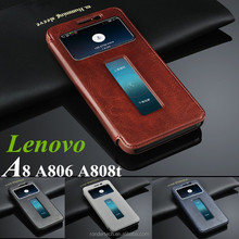 Cell phones smartphones Wallet Stand Leather Case For Lenovo A8 A806 A808t