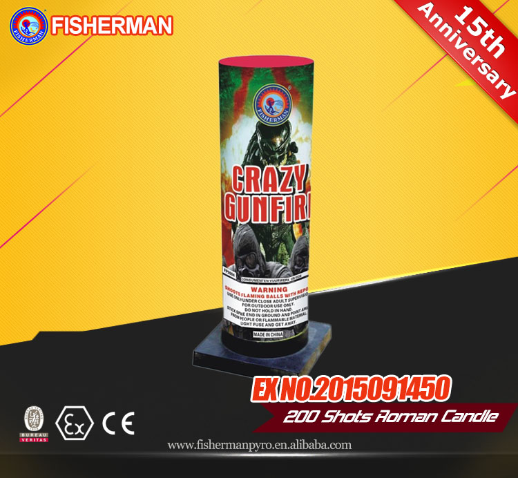 Thunder roman candle fireworks for wholesale