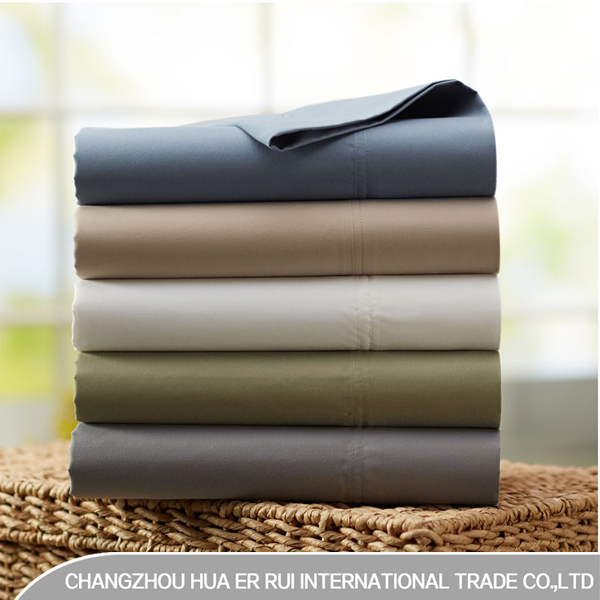 75gsm 100% Polyester Brushed Microfiber Cheap Bed Sheet Sets