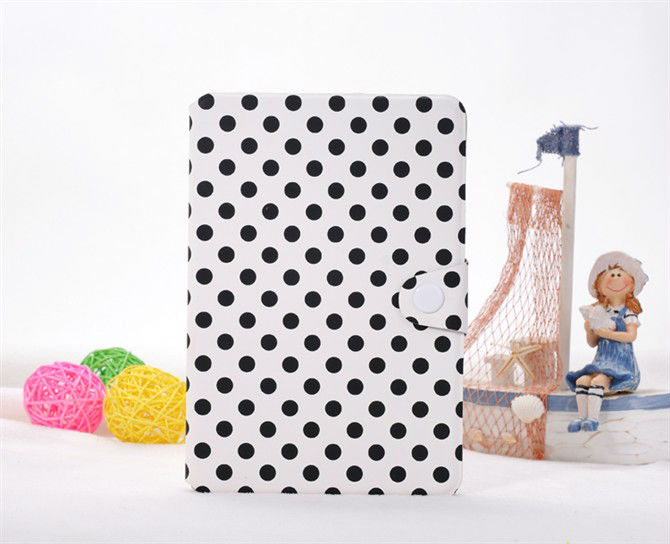 Fashion Polka Dots Flip Leather Pouch for Apple iPad Mini