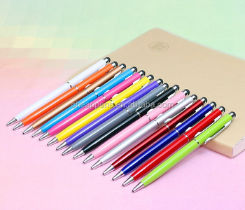 cheap price stylus slim metal ballpen touch screen ball pen promotion