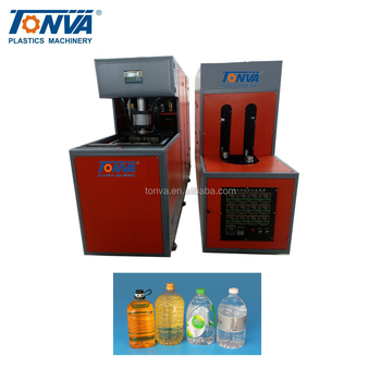 Cheapest semi automatic 1 cavity PET plastic 6L stretch blow molding machine price
