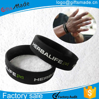 custom produce any your design high quality rubber silicone bracelets with sayings
