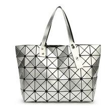 Baobao style foldable geometry sequin fashion women handbags tote bags