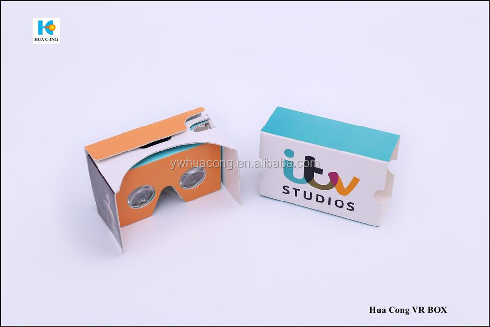 high quality custom logo paper virtual reality 3d glasses