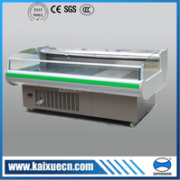top open meat refrigerated display cooler