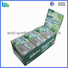 Hot selling Guarana energy Herbal Chewing Gum labels halal chewing gum