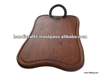 WOODEN TRAY, 1 HORSESHOE
