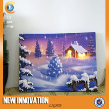 5L Fibre Optic picture frame led light box canvas picture with led light