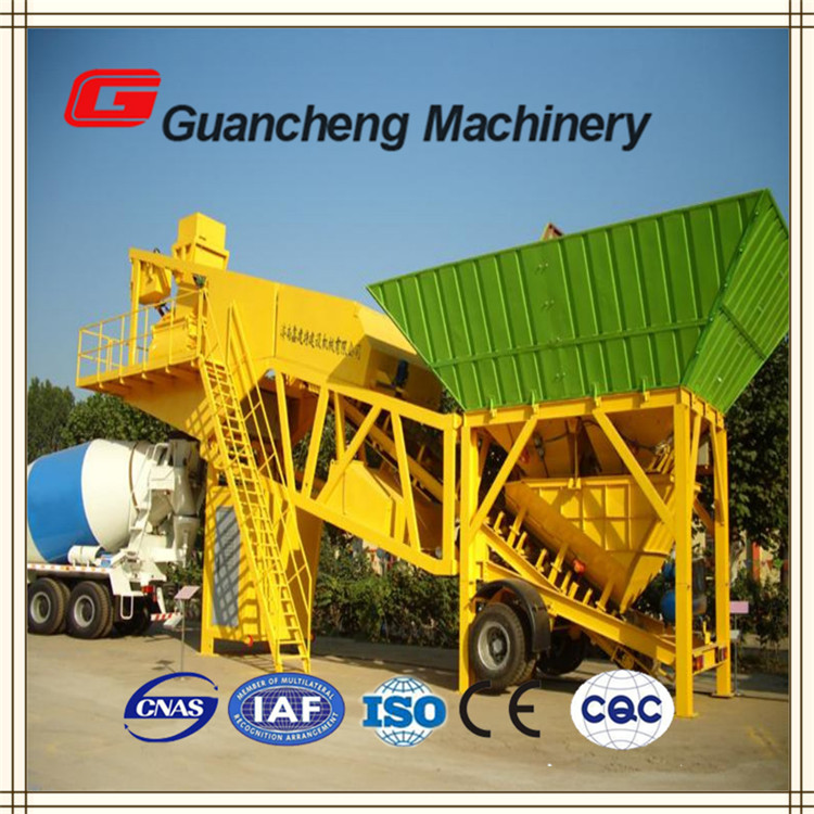 Excellent tech skills group concrete portable batch plant YHZS75
