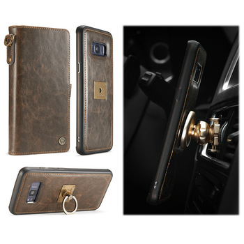 chinese supplier leather cover wallets For Samsung galaxy s8 mobile accessories shenzhen with 10 card slots