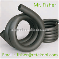 "air-conditoning duct system 1/2"" NBR/PVC closed cell rubber foam insulation tube/pipe"