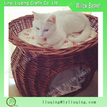 2016 new style wholesale wicker dog basket for cat