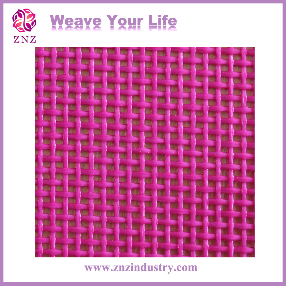 ZNZ 1 X 1 woven textiene fabric stock design 450gsm for chair different color PVC mesh fabric