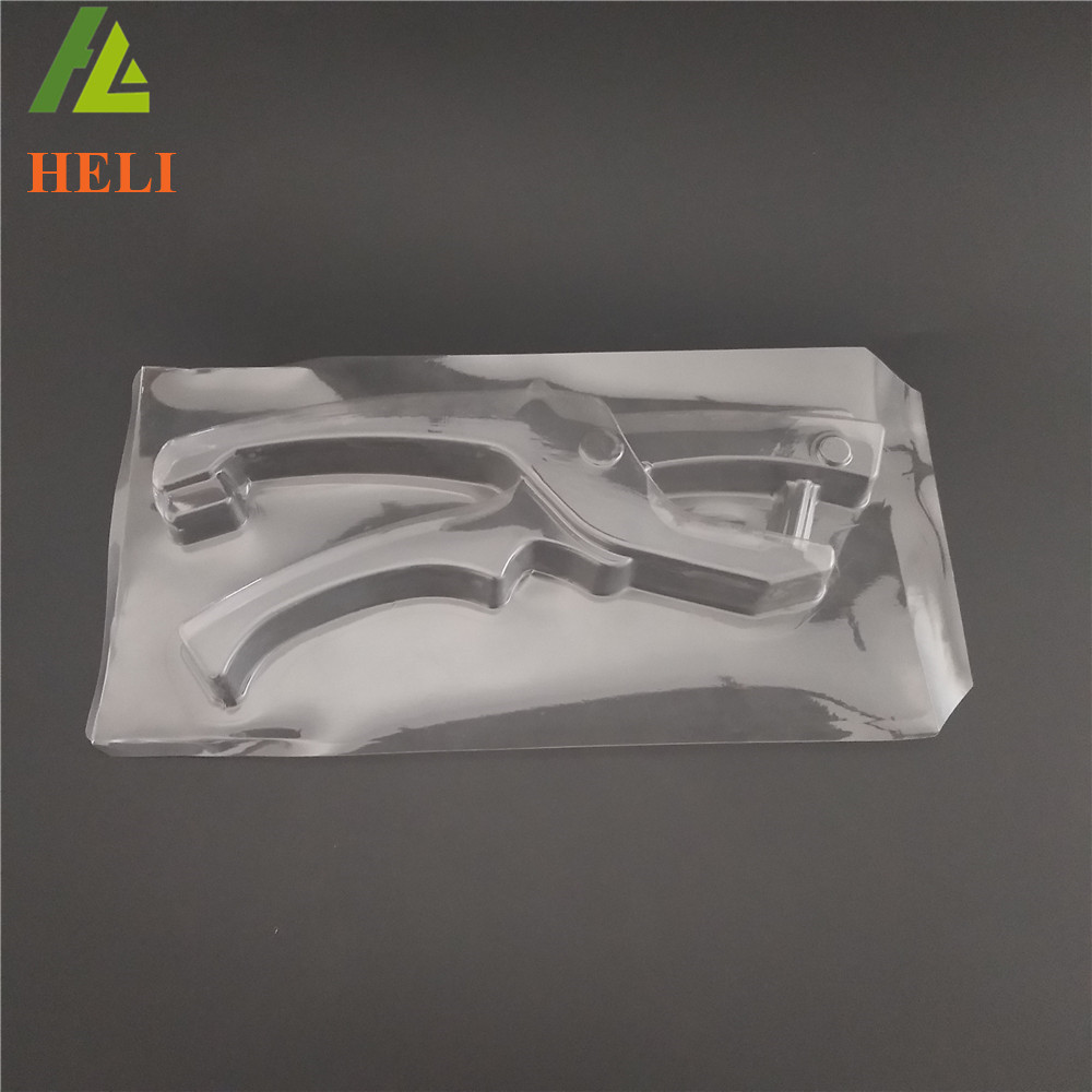 Factory supply customized clear blister process cardboard plastic tool box