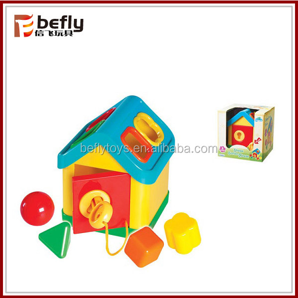 Intelligent plastic toy baby house with key