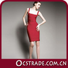 2014 sleeveless red cocktail tight dress sexy womens design