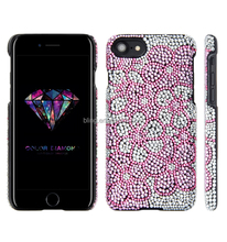 Diamond Flower Crystal Hard Back Case Cover for iphone 7 bling crystal flower Diamond Case