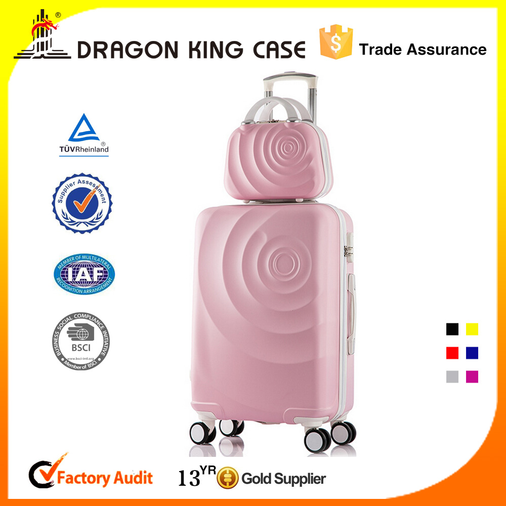 Fashion Unique Design ABS+PC Travel Women Beautiful Luggage Sets
