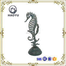 Home Decor Cast Iron Arts And Handicrafts Animal Theme Seahorse Statues