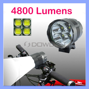 4 LED 4800 Lumen Waterproof 3 Modes T6 Cycle Front Light