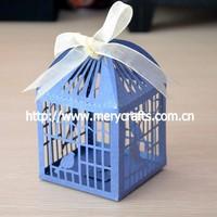 Elegant wedding favor, laser cut wedding cake boxes, love birds gift box