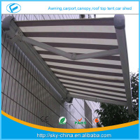 Hot New aluminum sun roof awning Prefab Electric Retractable door entrance awning