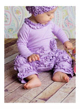 Newborn Girls Clothing Baby Clothes Organic Cotton Plain Purple Kids Romper