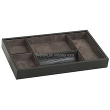 Home storage tray PU leather valet tray Desk organizer tray FN2389