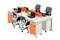 4 seats MDF top board office furniture computer table designs special using for office