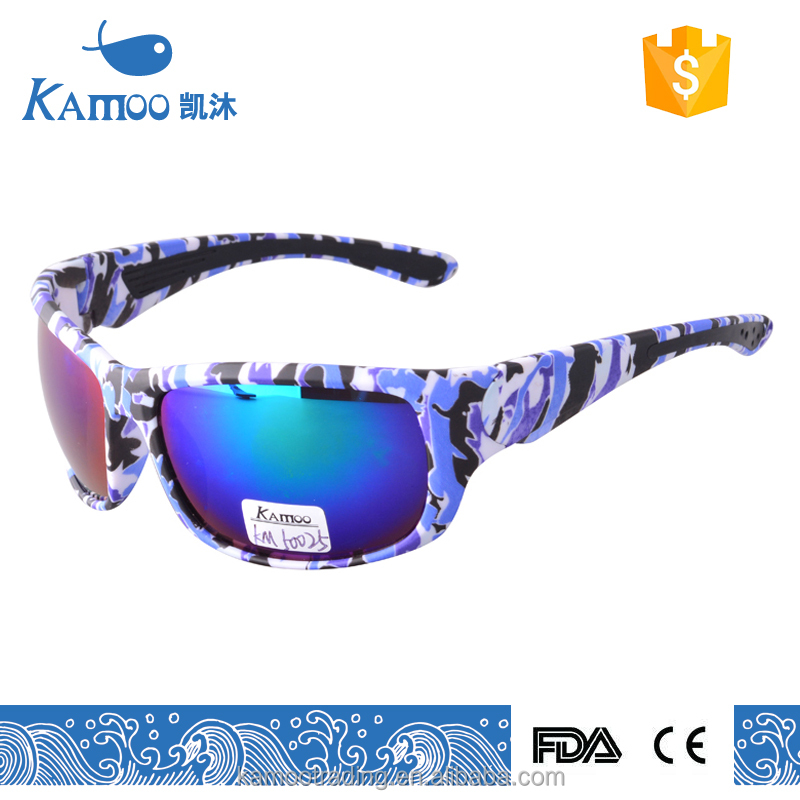 twice injection TR90 plastic frame sports cycling camouflage sunglasses