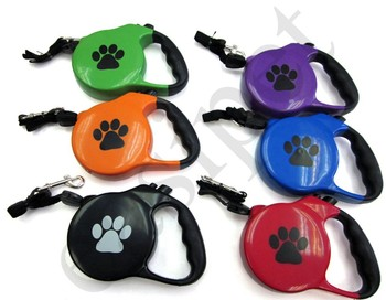 Retractable Dog Pet Lead Training Leash 8m Long Max 50kgs Extendable