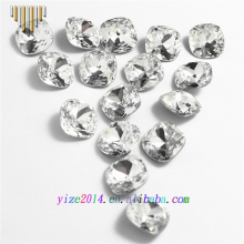Faceted White Clear Crystal Glass Stone For Rough Glass Gems Buyers