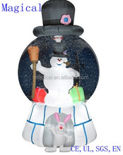 Frosty Snowman Snow Globe Christmas Inflatable