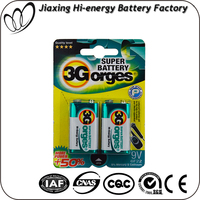 Professional Manufacturer battery 9 volt 6f22 6lr61battery