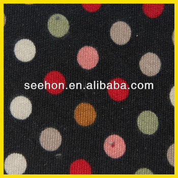 polka dot pattern flannel fabric for garment