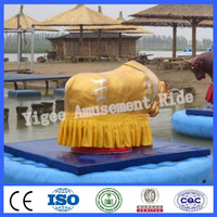 Cowboy riding mechanical bull for sale