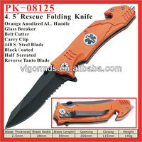 "(PK-08125) 4.5"" Assisted Opening Outdoor Rescue Survival Folding Pocket Knife"