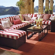Outdoor sofa hot sale 9 PCS heavy wicker outdoor furniture