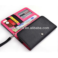 New women's wrist let wallet cover for Alcatel One Touch Idol Mini wallet case for mobile and money and card