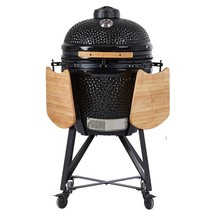 Moveable BBQ Oven Ceramic Charcoal Barbecue Smoker grill - in Red