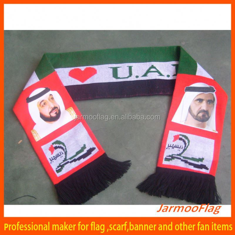 custom newest UAE national flag scarf