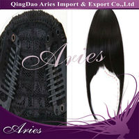 NEW lady's Lovely Clip On Clip In Front Hair Bangs Fringe Extension 35g