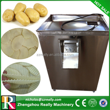 Best quality potato chips cutting machine, commercial plain/ribbed potato on stick cutter