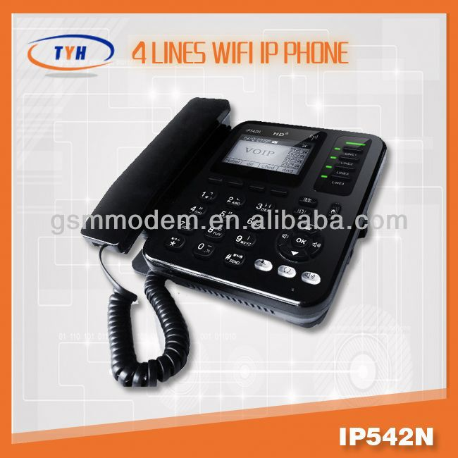 Hot sale!4 line wifi IP phone/4 line business phones/voip telecom