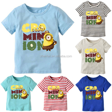 summer cartoon animal letter boy printed short sleeve baby t shirts