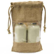 New jute bag with plastic window