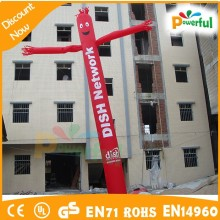 good quality funny pillar inflatable advertising/air dancer costume/wind suits for men